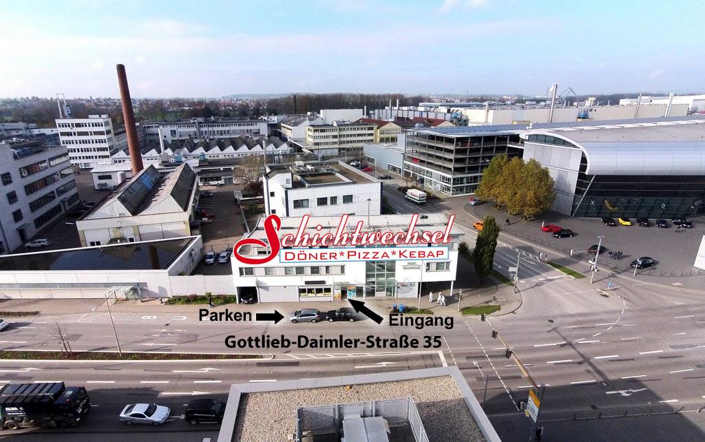 Das Neckarsulmer Schichtwechsel aus der Luft